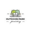 outdoor park logo vector image