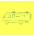 outline travel van isolated on yellow background vector image