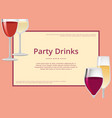 party drinks red wine and champagne glasses set vector image vector image
