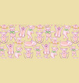 pattern with funny pigs a set of pigs engaged in vector image vector image