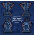 Picture ice mystical ancient statues vector image vector image