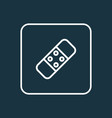 plaster icon line symbol premium quality isolated vector image