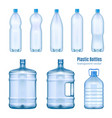 plastic water bottles realistic set vector image