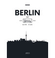 poster city skyline berlin flat style vector image