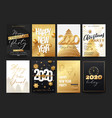 posters set for 2020 new year with decorative vector image vector image