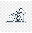 pumpjack concept linear icon isolated on vector image