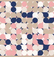 random colored abstract geometric mosaic pattern vector image vector image