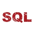Red grunge sql logo vector image vector image