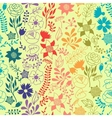 romantic seamless pattern of various flowers vector image vector image