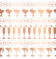 rose gold foil cocktail glass pattern vector image