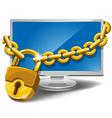 Safe information vector image