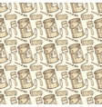 Seamless Pattern with Paint and Roller vector image vector image