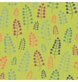 Seamless pattern with twigs and berries on a vector image