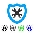 security configuration flat icon vector image