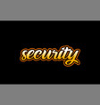 security word text banner postcard logo icon vector image vector image