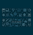 set 2 game blue outline banners games vector image vector image