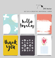 Set of 6 universal creative cards with hand letter vector image vector image