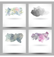 Set of backgrounds with abstract triangles vector image vector image