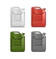 Set of Blank Jerrycan Canister Gallon Oil vector image vector image