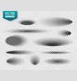 shadows set on transparent background vector image vector image