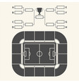 soccer stadium chart for groups and teams vector image vector image