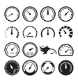 Speedometer icons vector image vector image