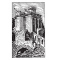 temple for sol invictus the ruins of the temple vector image vector image