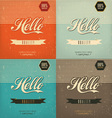 Vintage Design Set vector image