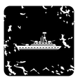 Warship icon grunge style vector image vector image