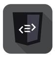 web development shield sign html5 tag vector image vector image