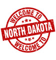 welcome to north dakota red stamp vector image vector image