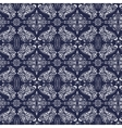 White and blue luxury damask pattern vector image vector image