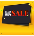 Black Friday sale banner with flying colored vector image