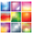 Blur abstract background set vector image