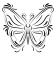 Decorative butterfly element tattoo vector image