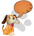 A dog with an empty callout vector image vector image
