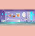 abandoned futuristic bathroom flooded interior vector image