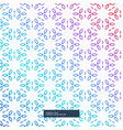 abstract colorful flower geometric pattern vector image vector image