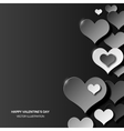 Abstract love background three dimensional black vector image vector image