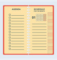 agenda month shedule vector image vector image
