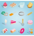 Bakery isometric set icons vector image vector image