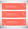 banners or headers with trendy geometric vector image vector image