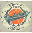 Basketball team emblem vector image vector image