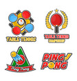 big ping pong championship isolated colorful vector image