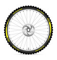 bike icon wheel with best sport tire on white vector image
