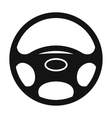 Black automobile wheel flat icon vector image vector image