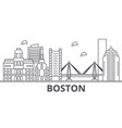 boston architecture line skyline vector image vector image
