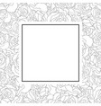 carnation flower outline banner card vector image