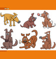 cartoon dogs and puppies animal characters set vector image vector image