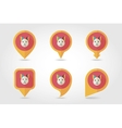 Cat mapping pins icons vector image vector image